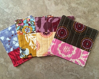 "Quilted Coasters -- Anna Maria Horner ""Innocent Crush"" fabric"