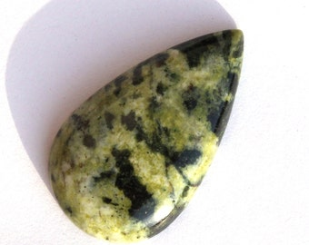 36x21 mm Natural Canadian Jade Pear Cabochon / Natural Gemstone Cabochon / Semiprecious Gemstone Cabochon