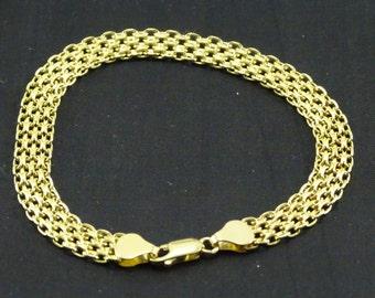 """Italian 14K Gold Woven Bracelet (8"""")"""