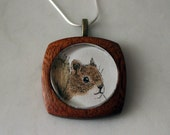 Handmade Art Necklace - Red Squirrel