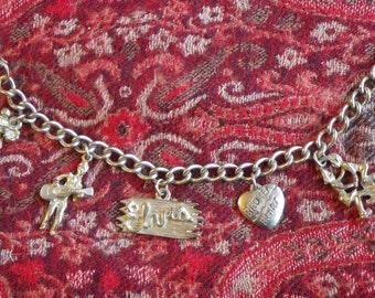 Elvis 50s vintage charm bracelet