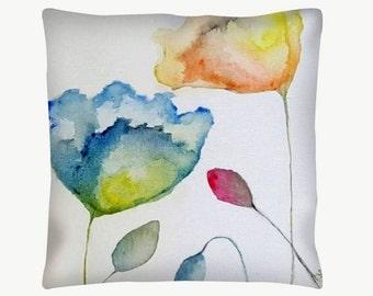 Watercolour Flower Cushion