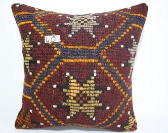 embroidered pillow 18x18 turkish kilim pillow cover made in turkey boho pillow handmade kilim kussen kilim kussensloop SP4545-40