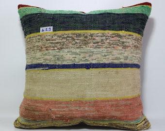 Striped Kelim Kissen 20x20 Kelim Rug Pillow euro sham cover kelim kissen throw pillow euro pillow striped kilim Sp5050-419