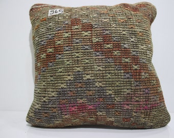 embroidered kilim pillow 15x15 Turkish kilim pillow couch pillow cushion cover decorative kilim pillows  SP4040-965