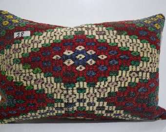 Turkish pillow 16x24 embroidered pillow 16x24 kelim kissen pillow cover boho pillow zigzag kilim pillow cover kilim cushion cover SP4060-18