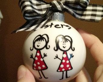 Sister Handpainted Ornament