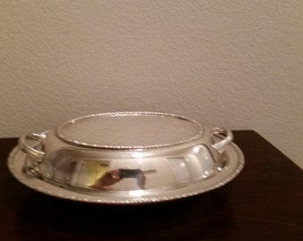 Vintage Entree dish/ double server by Freidman Silver