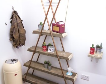 Industrial Copper Triangle Shelves