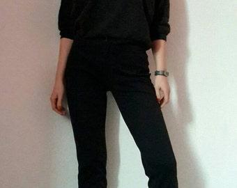 TOPSHOP Black Cropped Pants