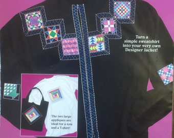 Fashion Art No Sew Applique Jacket Quilt Patches by: Denis Williamson. Applique Quilt Patches. No-Sew. Two Large Appliques