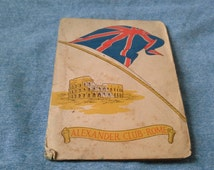 Alexander club Rome, A philatelic souvenir of Italy and best wishes for new year for the 1945