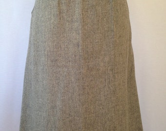 1970s grey wool skirt