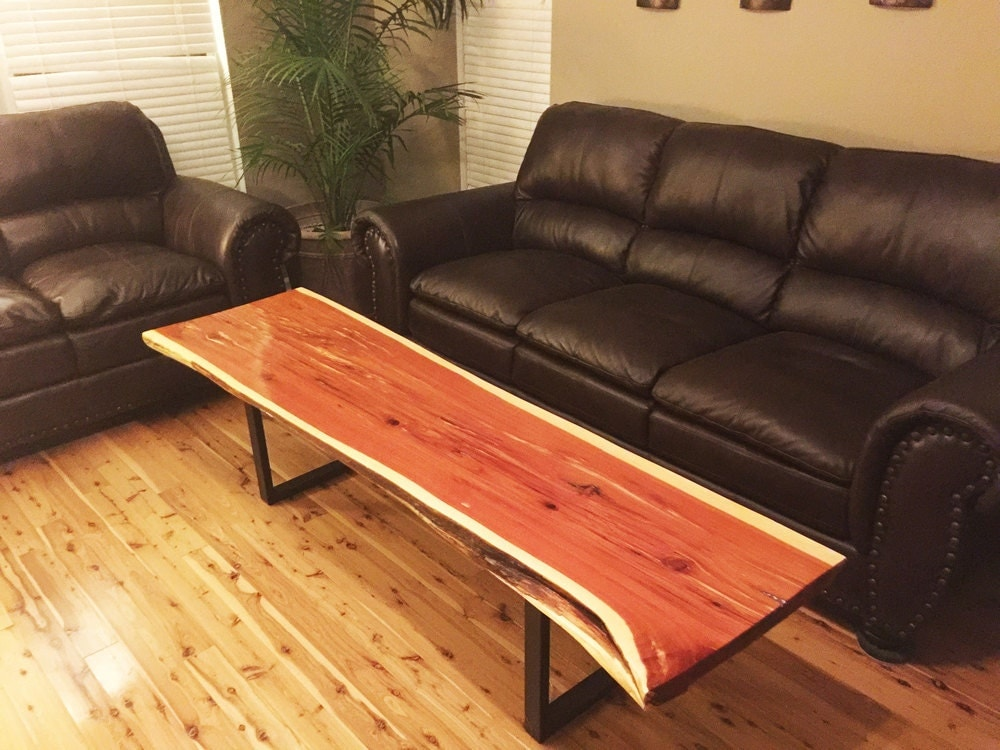 Live Edge Red Cedar Coffee Table By Liveedgewoodshoppe On Etsy