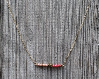 Loved Geometric Bead Bar Necklace