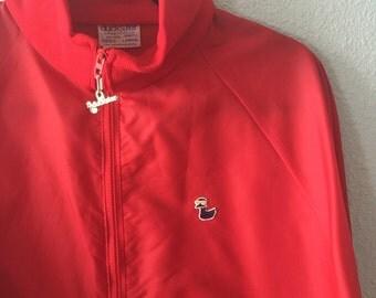 1980's Men's Duckster Red Jacket