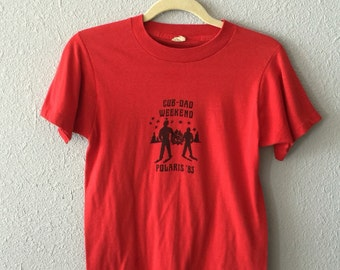 1983 Boy Scouts Cub-Dad Weekend Polaris Screen Stars 50/50 T Shirt