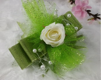 Fancy Green Corsage and Boutonnier