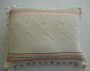 Handloomed Pillow Cover / Handwoven Pillow Cover / Artisanal Pillow Cover / Handmade Pillow Cover
