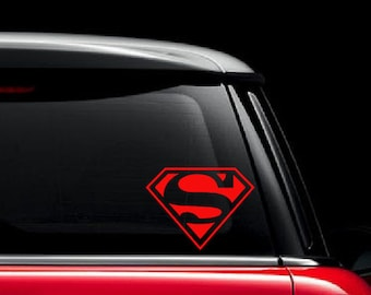Superman Decal / Superman Car Decal / Superman Emblem Decal / Superman Logo Decal / Superman Vinyl Decal / Superman Custom Vinyl Decal