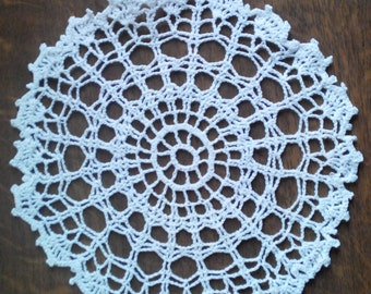 Serviette (doily crochet) azure