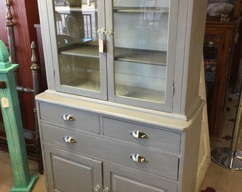 SOLD - Vintage Farmhouse-style China Cabinet