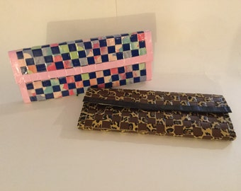Woven Duct Tape Clutch Wallet