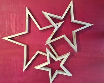 Rustic Decorative Blue Stain Wood Star