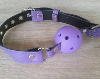 Veggi purple ball gag