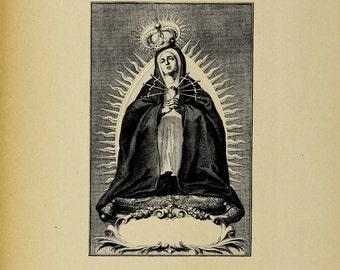 Mater Dolorosa Mary of the Seven Sorrows - Digital Download Image Transfer Pillow Burlap Iron-On Teeshirt Fabric Scrapbooking Digital Stamp