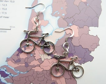 Dutch bike earrings from the 'Made in Holland'collection - Netherlands / Holland / Nederland / typical Dutch / Dutchie