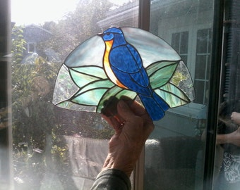 Blue bird fan lamp