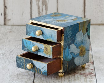 Jewellery Box - Mini Chest of Drawers  - Trinket Box - Trinket Drawers - Birthday Gift - Shabby Chic - Christmas Gift - Mother's Day Gift
