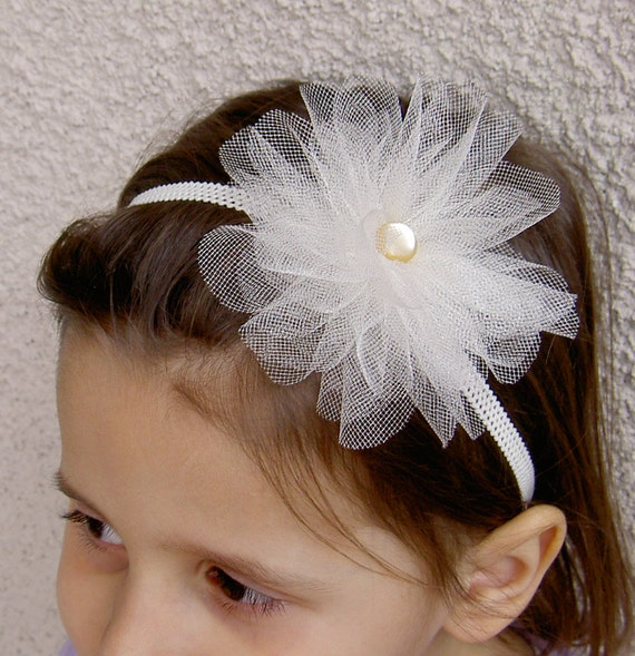 Tulle Flower Girl Headpieces