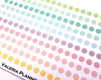 Planner Stickers Pastel Small Dots Color Coding