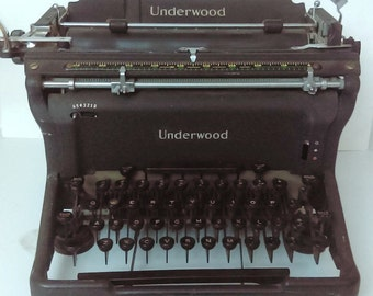 Underwood Typewriter 1940's/ Antique Typewriter/ Contact me for shipping price