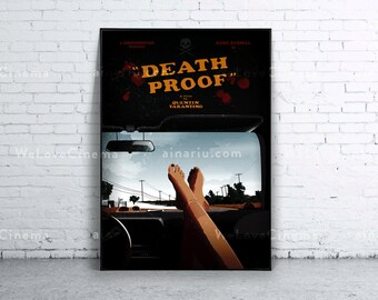 Death Proof Movie Poster Print. 70x100cm. B1 size. Art Print. Original decoration Wall Design