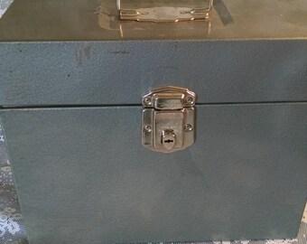 Vintage Porta File, Hamilton Skotch, Steel Box, Metal Box, Porta File, Office Storage, Mini File Cabinet, Box with Handle, Father's Day