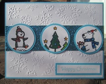 Happy Christmas Card - Polar Party