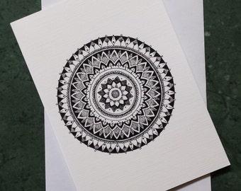Continuum - Greeting Card with print of original artworks