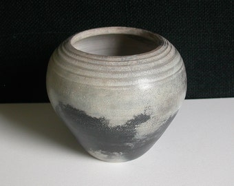 Smoke Fired Vase/Pot