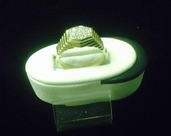 Men's diamond ring vinatge estate statement