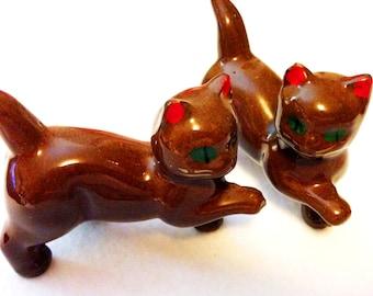 Vintage redware Kittens-Japan