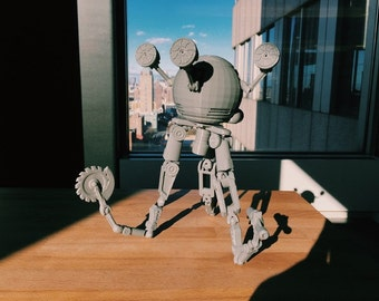 Fully Articulated Codsworth, Fallout 4 , Your favorite Mr. Handy Robot , Unpainted kit and ready for your imagination!