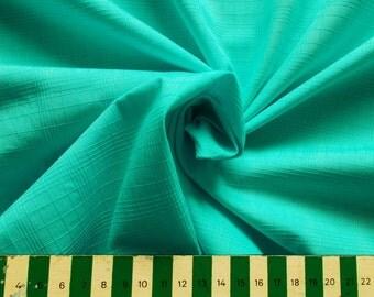 Vintage Woven Cotton Mix Dress Fabric - 1960's / 1970's - light turquoise - 1 piece  - Unused