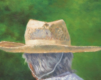 Original Oil Paintings of Hats on a Sunny Summer Day