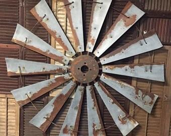 "47"" diameter vintage style windmill"