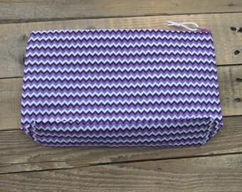 Purple Zigzag Travel Bag