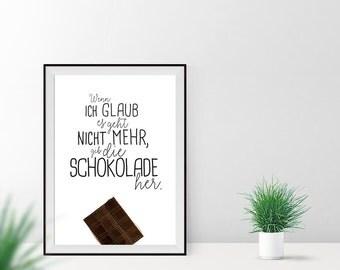 Art print / / chocolate