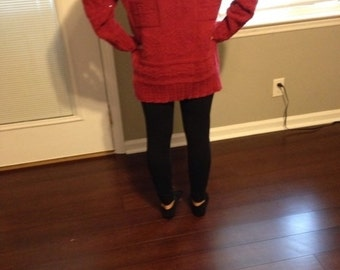 Vintage Oversized Red Sweater
